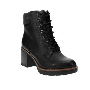 Naturalizer Madalynn Lace Up Boots Black 9.5